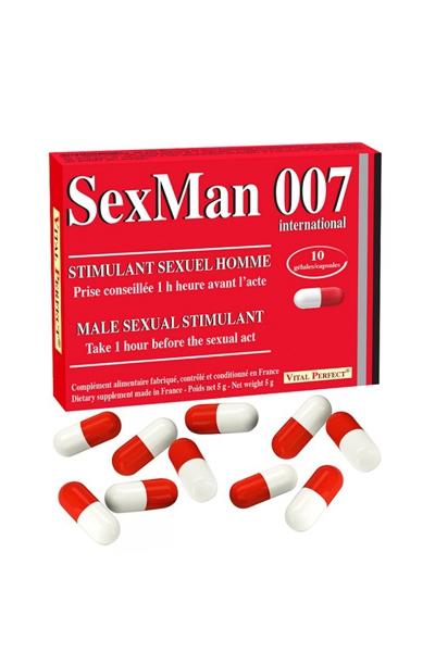 Aphrodisiaque SexMan 007 - 10 gélules